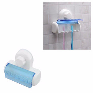 5 Rack Toothbrush Holder With Suction Cap, Easy Installation 12cm  0844