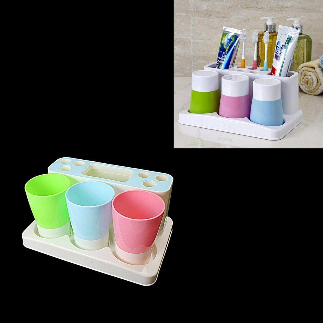 Bathroom Toothbrush Holder With Mouthwash Cups 25cm x 15cm    3910