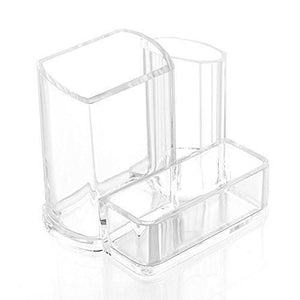 3 Display Clear Acrylic Desk Cosmetic Lipstick Brush Holder Makeup Storage Case