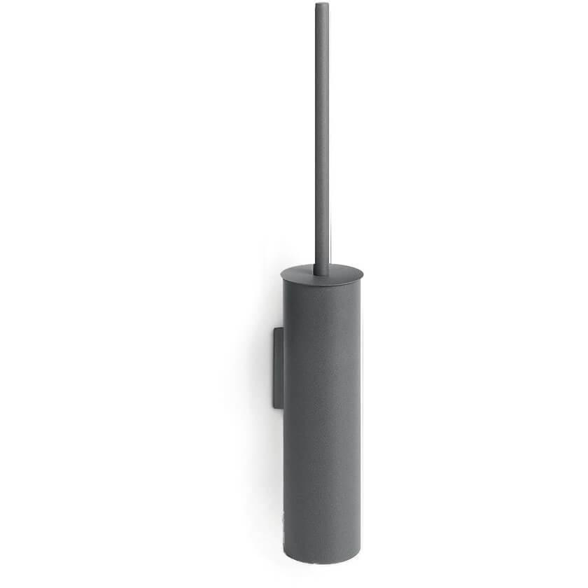 LB Skoati Stainless Steel Wall Toilet Brush Holder Set, Painted Dark Gray