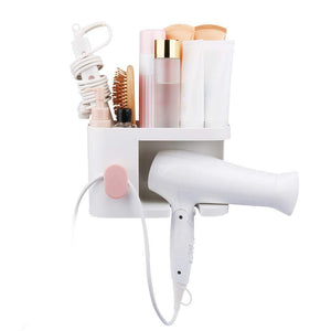 Buy aritan wall mounted hair dryer holder rack no drilling styling tool organizer storage basket for bathroom give 10 hooks 1 soap holder