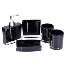 Load image into Gallery viewer, 5Pcs/Set Bathroom Suit Accessories Include Bath Cup Bottle Toothbrush Holder Soap Dish Bath Accessories