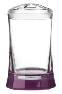PREMIER PURPLE/CLEAR TOOTHBRUSH HOLDER ACRYLIC- 1601391