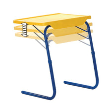 Load image into Gallery viewer, Buy now table mate 4 kids folding desk and chair set for eating art activities for toddlers and children with portable carry case red blue yellow
