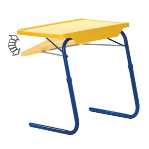 Buy table mate 4 kids folding desk and chair set for eating art activities for toddlers and children with portable carry case red blue yellow