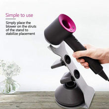 Load image into Gallery viewer, Try kobwa for dyson supersonic hair dryer stand holder aluminum alloy bracket for dyson supersonic hair dryer diffuser and two nozzles