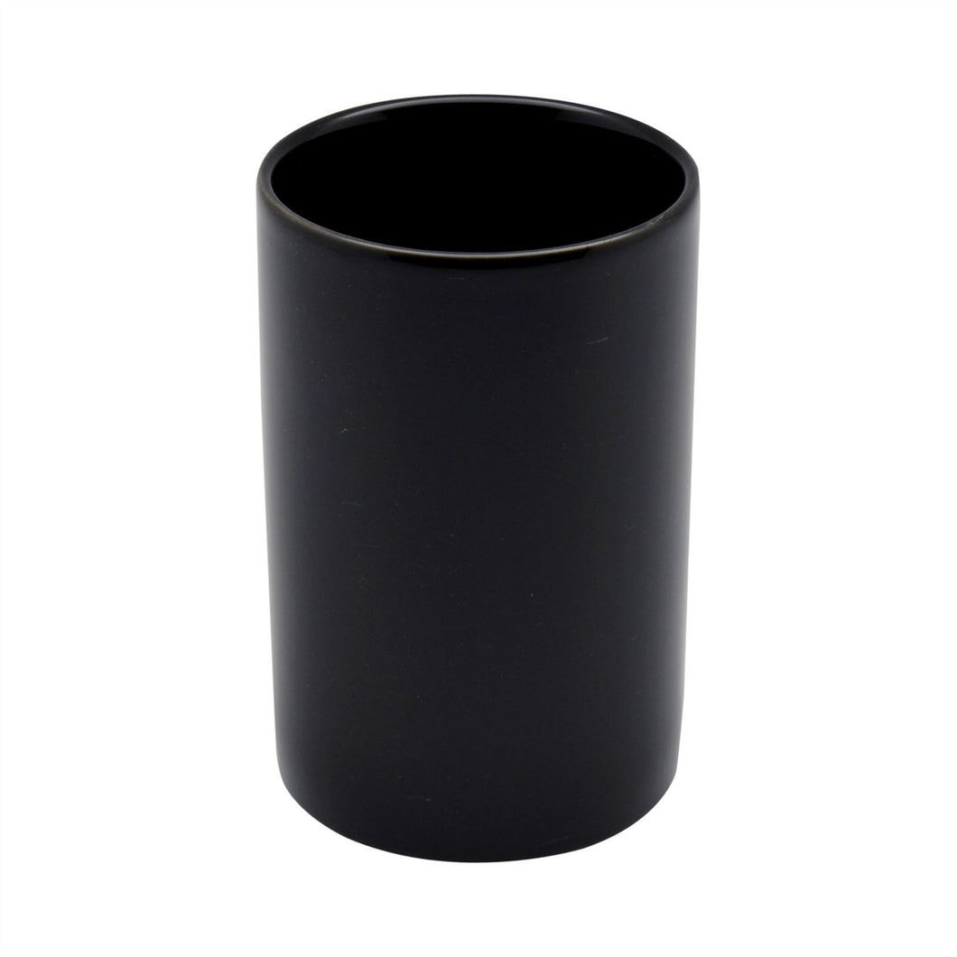 Harbour Housewares Ceramic Toothbrush Holder - Black