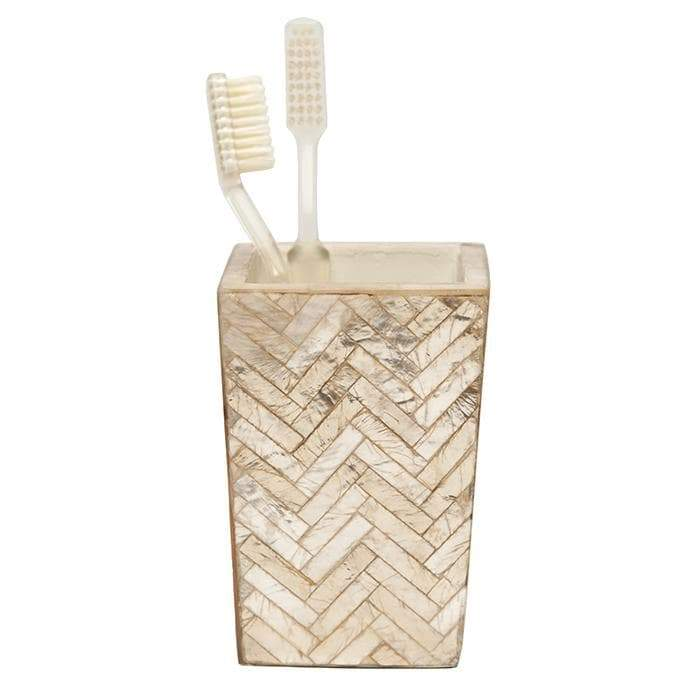 Handa Herringbone Capiz Bathroom Accessories (Smoked)