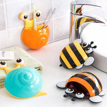 Load image into Gallery viewer, Cute Cartoon Bee Snails Design Toothbrush Suction Wall Holder Bathroom Home Decor
