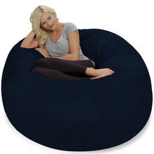 Load image into Gallery viewer, Amazon best chill sack bean bag chair giant 5 memory foam furniture bean bag big sofa with soft micro fiber cover navy