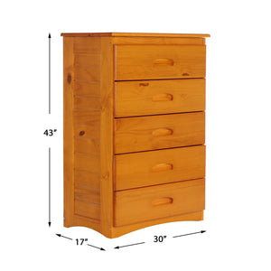 Save discovery world furniture mission twin over twin bunk bed with 3 drawers desk hutch chair and 5 drawer chest in honey finish