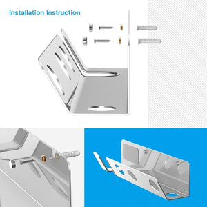 Buy hair dryer wall mount holder basstop aluminum alloy wall bracket holder for dyson supersonic hair dryer diffuser and two nozzles