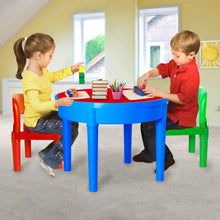 Load image into Gallery viewer, Results kids activity table 4 in1 water table play table building blocks table and storage for toddler kids boys grils includes 1 table 2 chairs and 25 jumbo bricks