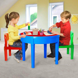Results kids activity table 4 in1 water table play table building blocks table and storage for toddler kids boys grils includes 1 table 2 chairs and 25 jumbo bricks