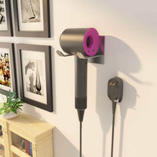 Load image into Gallery viewer, Discover the best fle hair dryer holder wall mounted self adhesive sus 304 stainless steel hair blow dryer rack organizer compatible with most hair dryers