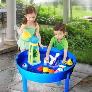 Related kids activity table 4 in1 water table play table building blocks table and storage for toddler kids boys grils includes 1 table 2 chairs and 25 jumbo bricks