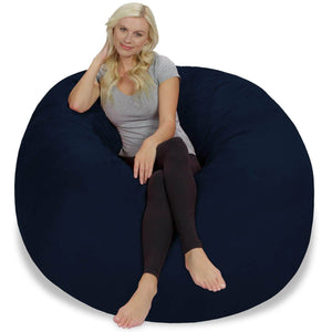 Best seller  chill sack bean bag chair giant 5 memory foam furniture bean bag big sofa with soft micro fiber cover navy