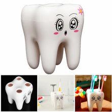 Load image into Gallery viewer, 4 Holes Smily Face Toothbrush Holder Rack Cartoon Design Toothbrush Bracket