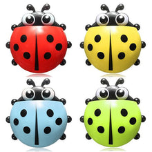 Load image into Gallery viewer, Cute Pocket Ladybug Wall Suction Cup Pocket Toothbrush Holder Bathroom Hanger Stuff Home Decoration