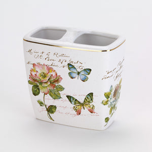 Butterfly Garden Toothbrush Holder 13882B