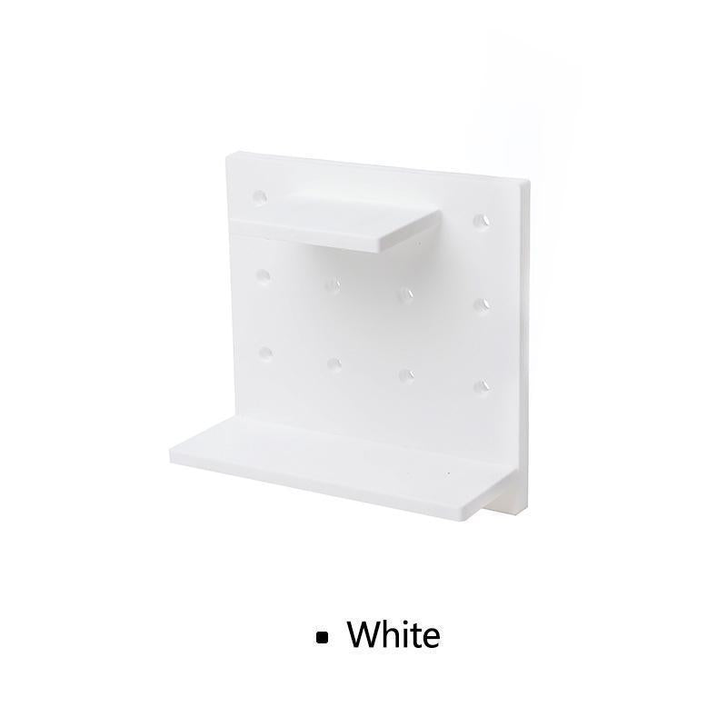 Plastic Hole Floating Wall Shelf(1 Set)