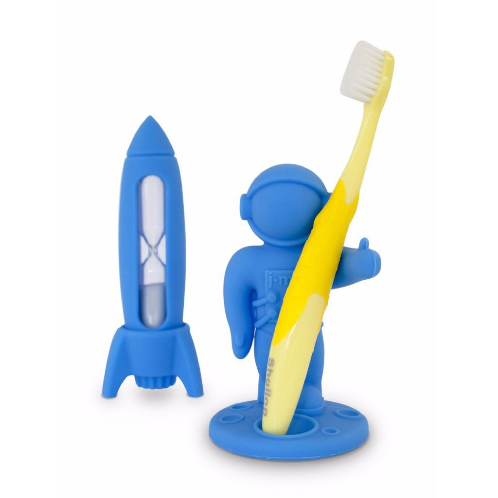 Apollo Toothbrush Holder & Rocket Timer Set