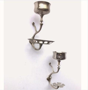 Art Brass Shelf Brackets with Soap Cup Holders