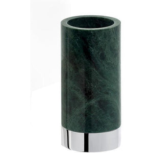 DWBA Round Bathroom Toothbrush Holder Standing Toothpaste Tumbler, Green Marble