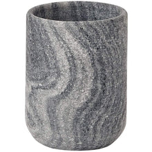 Load image into Gallery viewer, Flint Round Marble Bathroom Toothbrush Holder Standing Toothpaste Tumbler