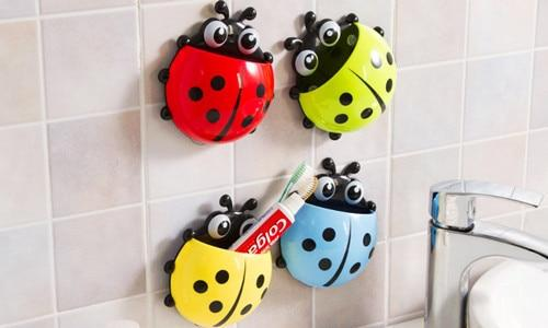 Ladybug Suction Hook Tooth Brush Holder