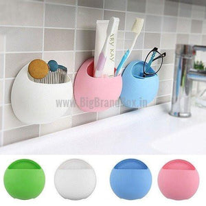 Shelf Round Toothbrush Holder