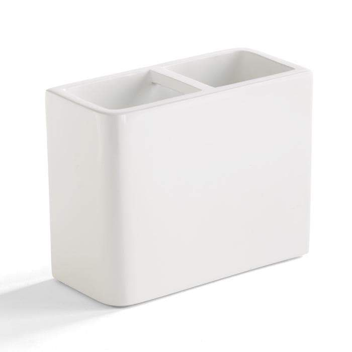 Lacca White Lacquer Toothbrush Holder