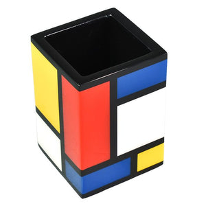 Mondrian Multi Color Lacquer Brush Holder