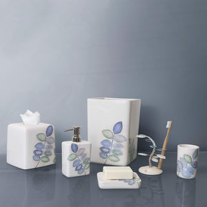 Mosaic Leaves Spa Toothbrush Holder