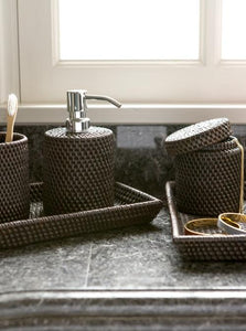 Dalton Coffee Rattan Bathroom Accessories