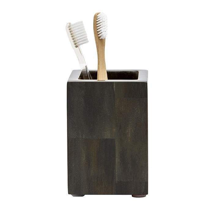 Arles Dark Faux Horn Brush Holder