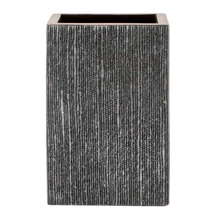 Bruges Faux Silk Bathroom Accessories (Charcoal)