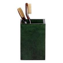 Load image into Gallery viewer, Carlow Faux Vellum Bathroom Accessories (Emerald Gloss)