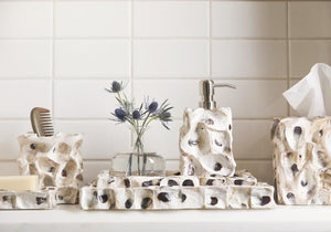 Enna Natural Oyster Bathroom Accessories