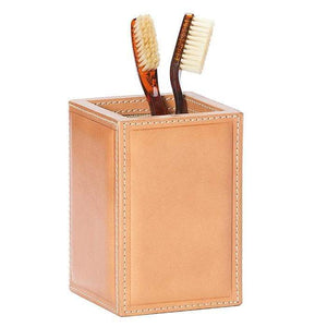 Lorient Aged Camel Full-Grain Leather Bathroom Accessories