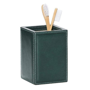 Lorient Dark Teal Full-Grain Leather Bathroom Accessories