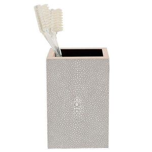Manchester Faux Shagreen Bathroom Accessories (Sand)