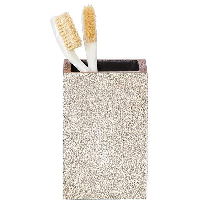 Manchester Faux Shagreen Bathroom Accessories (Warm Silver)