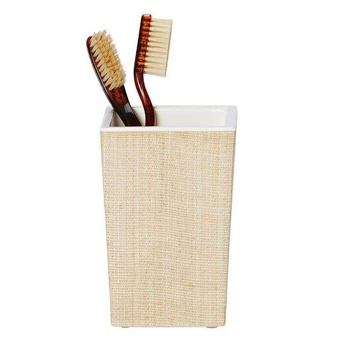 Maranello Beige White Abaca Resin Brush Holder