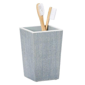 Maranello Steel Blue Abaca Resin Brush Holder
