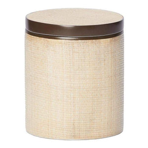 Maranello Beige Brown Abaca Resin Canister