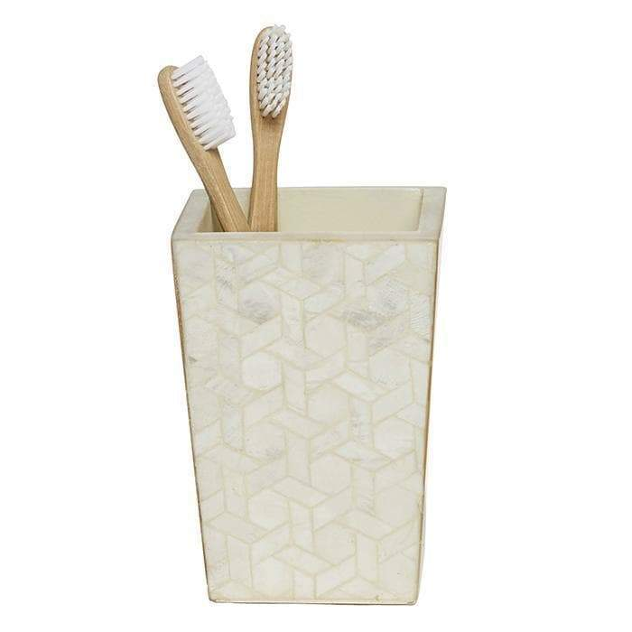 Melfi Capiz Brush Holder (Pearlized)