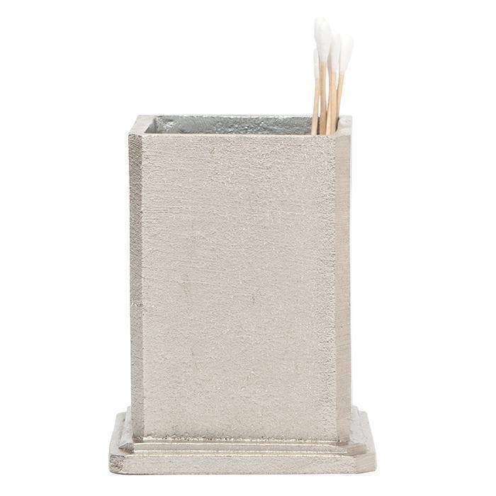 Porto Rustic Silver Aluminum Brush Holder