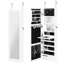 Load image into Gallery viewer, Door/Wall Mount Mirror Jewelry Cabinet Armoire w/ Inside Mirror, LED Lights