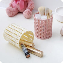 Load image into Gallery viewer, 1Pc Plastic Pen Holder Hollow Out Makeup Brush Holder Desktop Organizer
